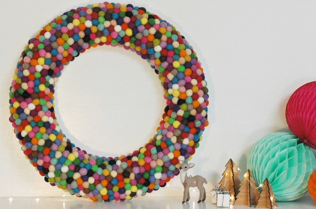 Felt ball wreath 2