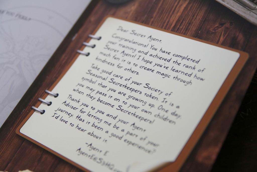 Dear secret agent
