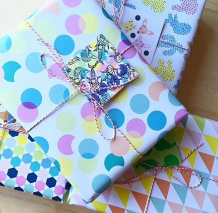 wrapping paper colour
