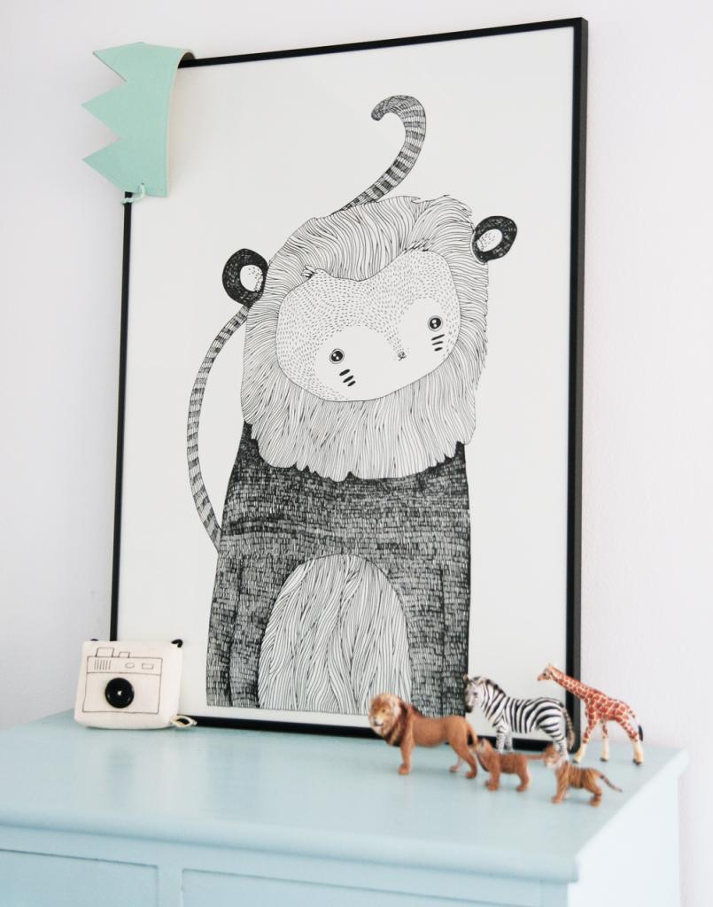 Majasbok Monkey Lion print