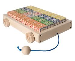 Wooden cart and blocks - uncle goose